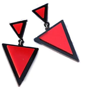 Colorful Triangle Stud Earrings For Women