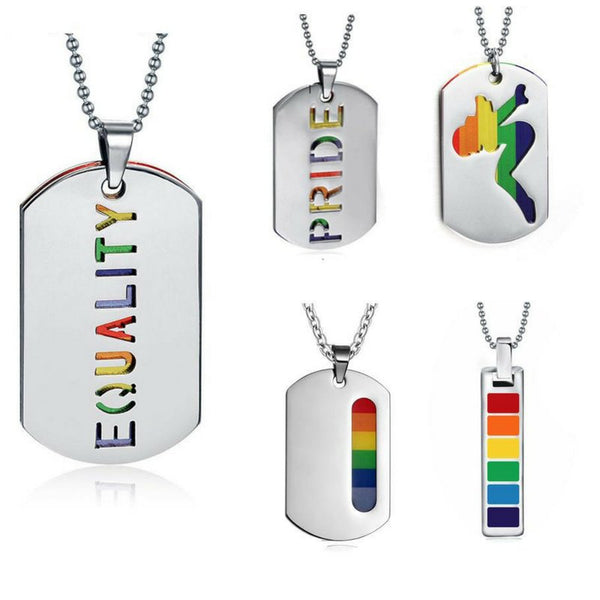 Rainbow LGBT Necklace-Gallore Shop