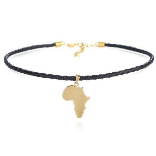 Africa Map Pendant Choker Necklace-Gallore Shop