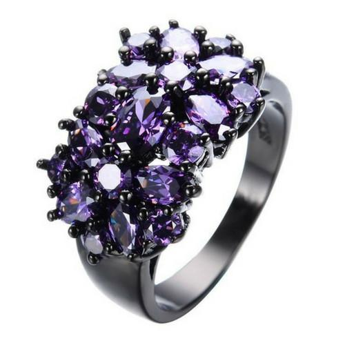 Amethyst Cocktail Rings - Gallore Shop