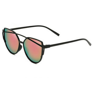 Luxury Cat Eye Mirrored Sunglasses - Gallore Shop
