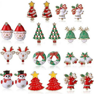 Christmas Stud Earrings For Women-Gallore Shop