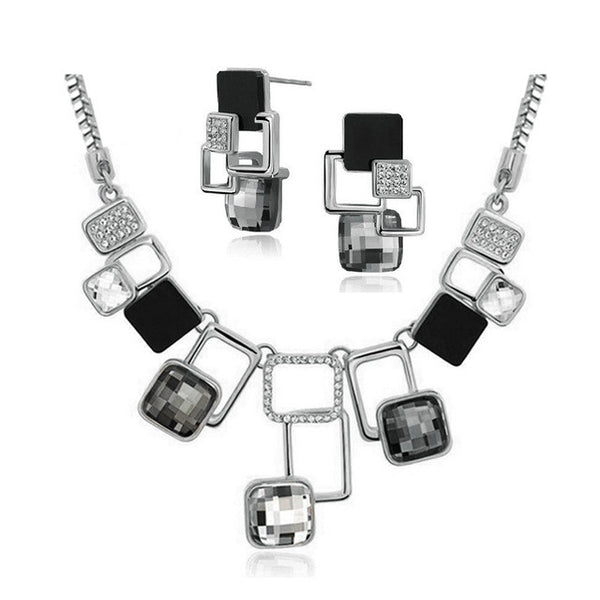 Geometric Necklace Earring Set For Women - Gallore Shop