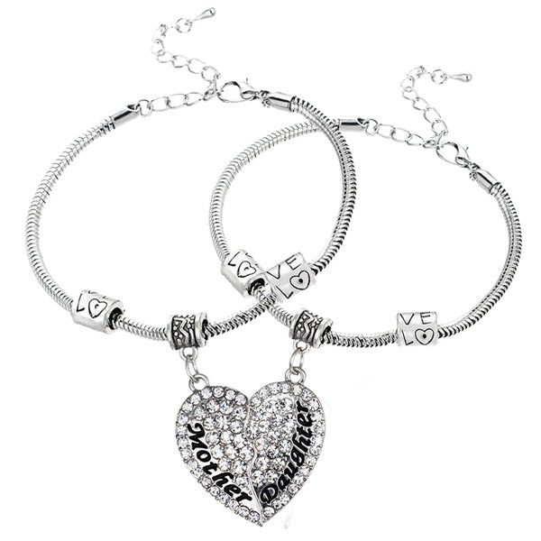 mother daughter charm bracelet
