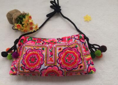 Embroidered messenger bags for women