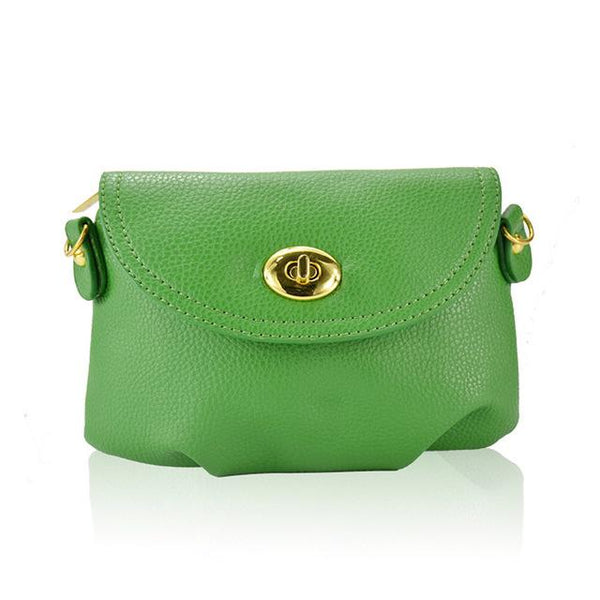 green Small Leather Crossbody Purse