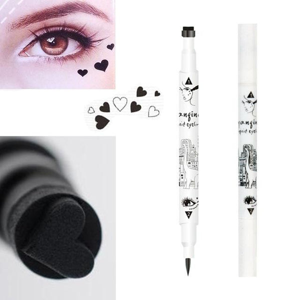 Black Liquid Eyeliner Star Heart Tattoo Stamp-Gallore Shop