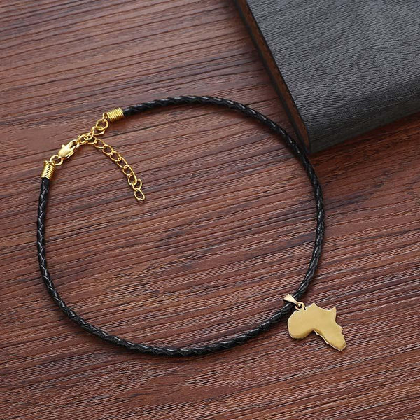 africa map choker for women