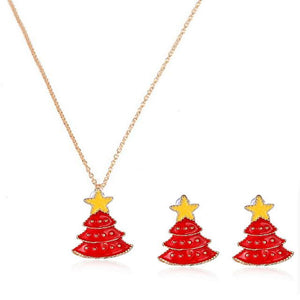 Christmas Tree jewelry set for women
