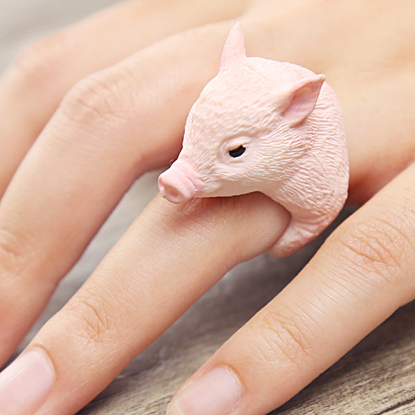Pink Pig Ring-Gallore Shop