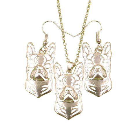 Boston Terrier Dog Animal Jewelry Sets-Gallore Shop