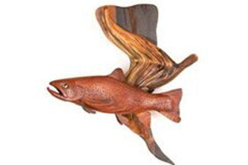 Hanging Cocobolo Fish
