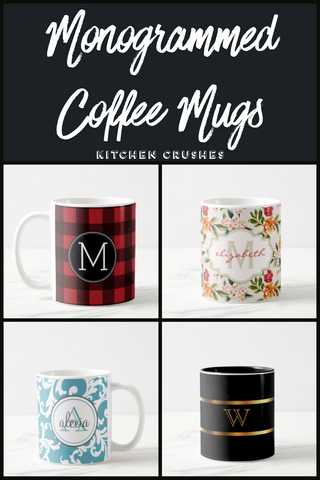 Monogrammed Coffee Mugs That Will Make You Smile