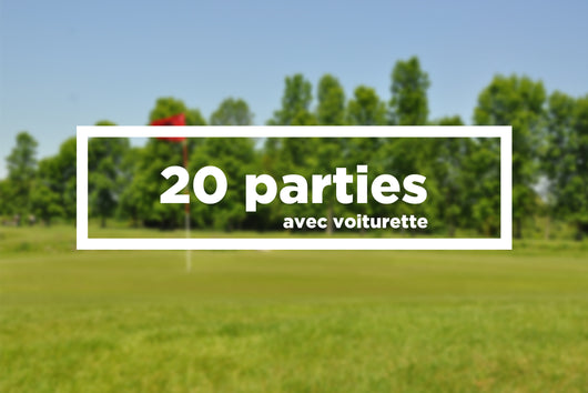 20 parties avec voiturette / 20 games booklet with electric cart