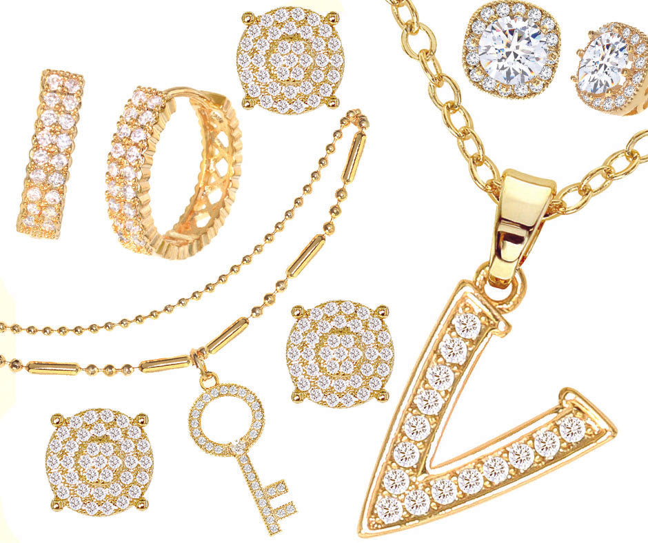 14kt gold plated cz fashion jewelry