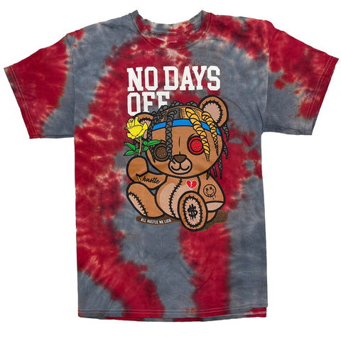 No Days Off Tie Dye Graphic T-Shirt