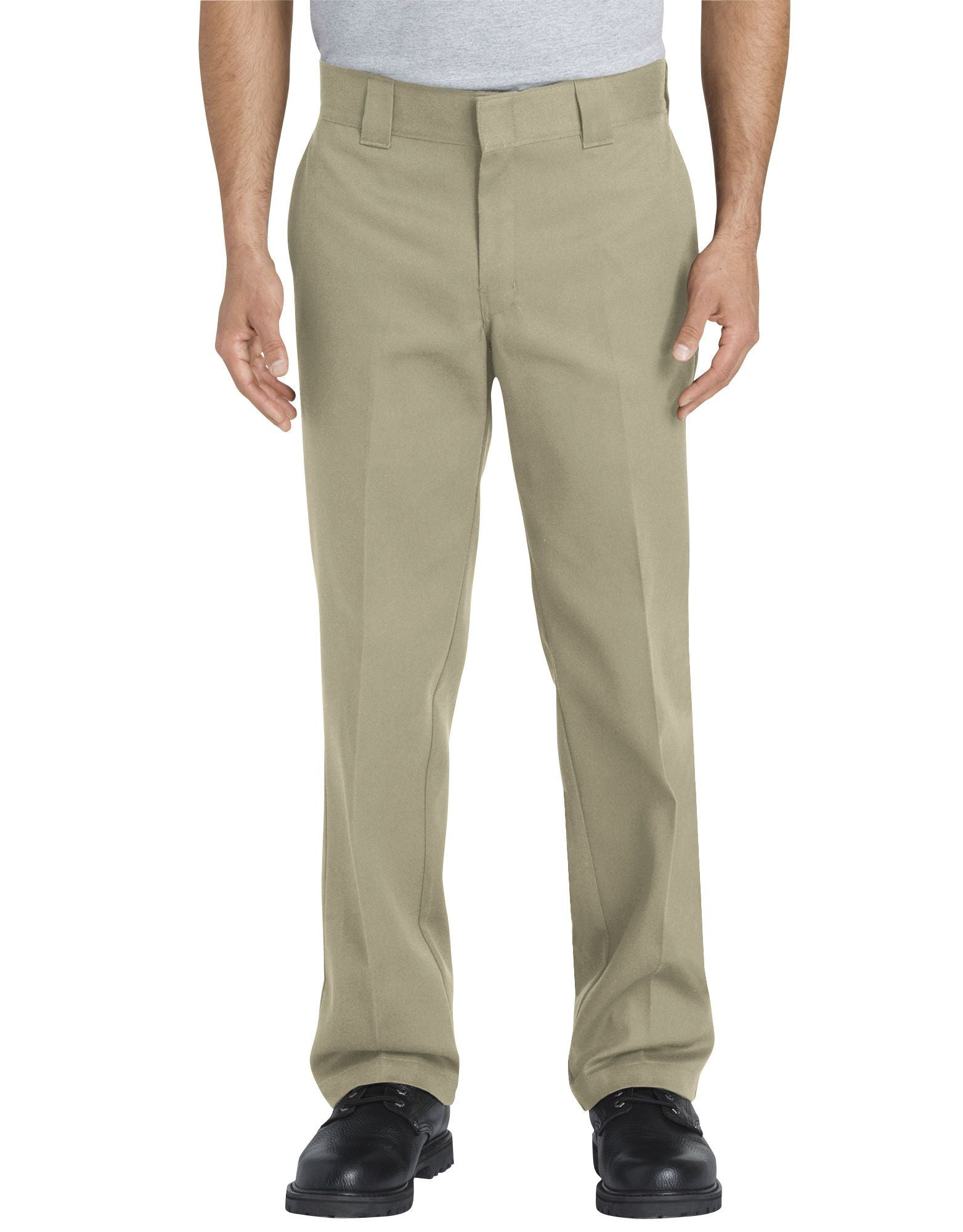 DICKIES MEN FLEX Slim Fit Straight Leg Work Pants 873FLEX-DESERT SAND 873FLEX-DESERT SAND - KMOMO