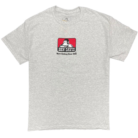 Ben Davis Men's Classic Logo Heavyweight Cotton T-Shirt - Grey