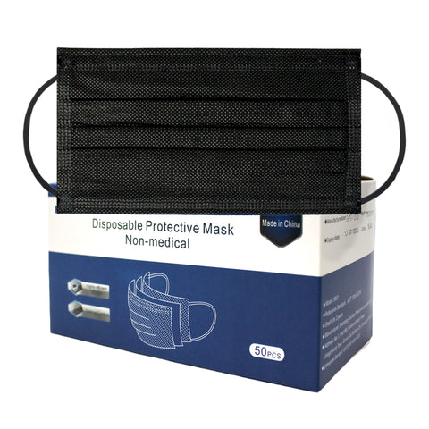 Black Disposable Face Mask (50 count)