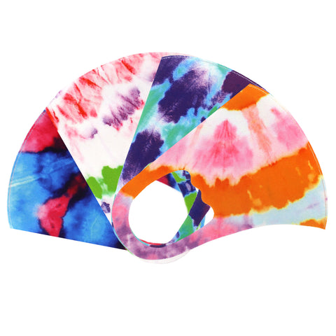 Tie Dye Washable Reusable Cloth Face Masks (4 Color Assorted)