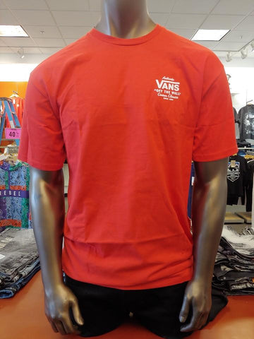 Vans Men Off The Wall Authentic Classic T Shirt-Red-VN0A3HZFDS8