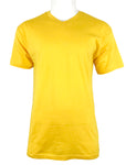 Men's Plain V Neck T-Shirt-White, H.Grey, Navy, Turquoise, Yellow  , 9 Size/ S to 6XL