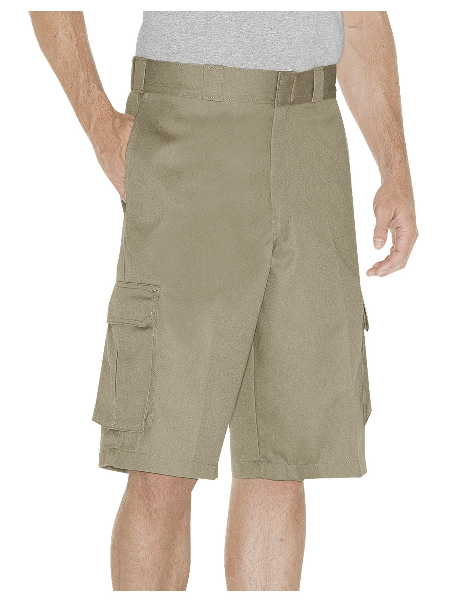 "DICKIES MEN 13"" Loose Fit Cargo Shorts WR888-DESERT SAND WR888-DESERT SAND - KMOMO"