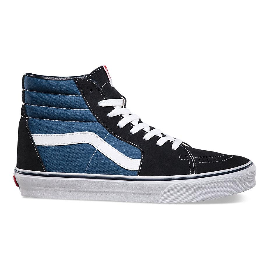 Vans Suede Canvas SK8-HI Skate Shoes - Navy