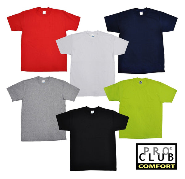 Pro Club Comfort Plain SHORT SLEEVE TEE T-Shirt - Variety Of Colors Available