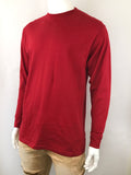 Men's Plain Long Sleeve T-Shirt-Black, H.Grey, Red, Navy, White 9 Size/ S to 6XL