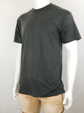 Men's Plain T-Shirt-Black, Red, Kelly Green, Khaki, Burgundy, Charcoal, Royal, Orange, Olive, Sky Blue , 9 Size/ S to 6XL