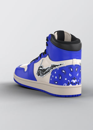 Electric Blue Get Rich Sneakers