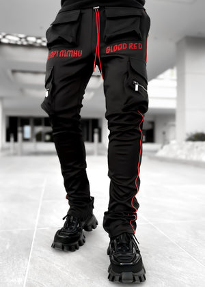 Blood Red Tactical Track Pants