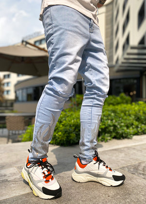 Ice Flames Denim