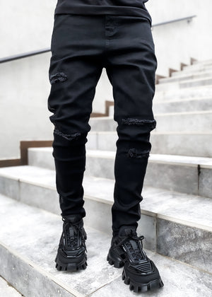 Obsidian Black Carbonado Denim