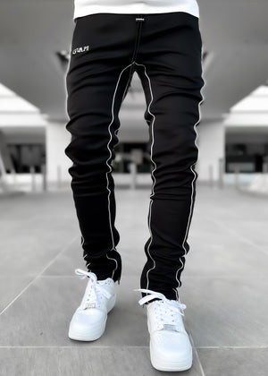 Metallic Chrome Track Pants