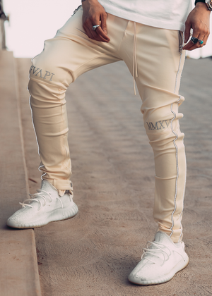 Cream Reflective Track Pants