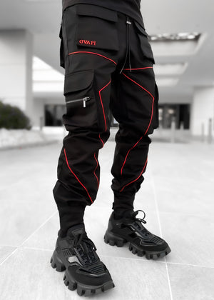 Metallic Red Cargo Pant