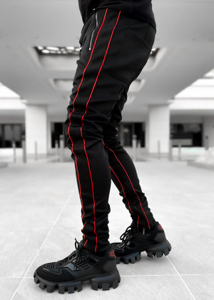 Metallic Red Track Pants
