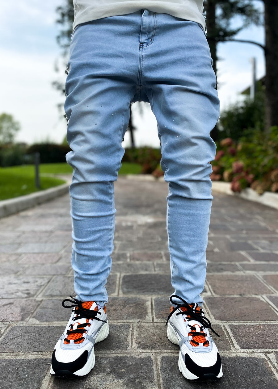 Aqua Blue Denim