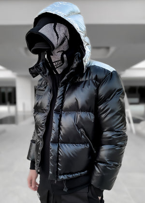 Metallic Black Puffer Jacket