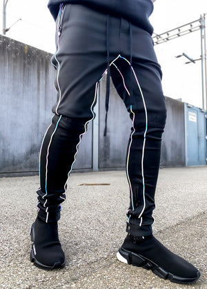 Rainbow Reflective Track Pants