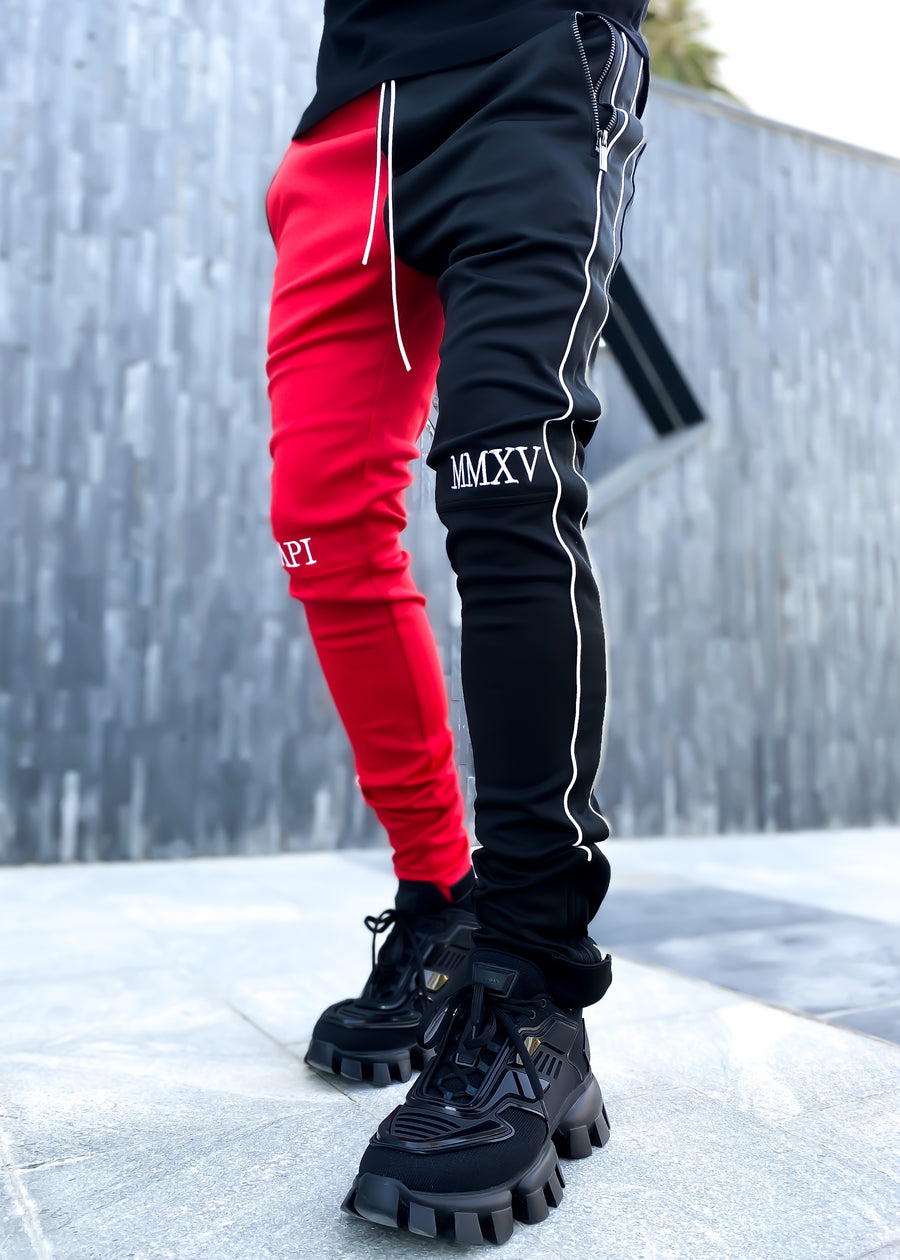 Crimson Red Fusion Track Pants