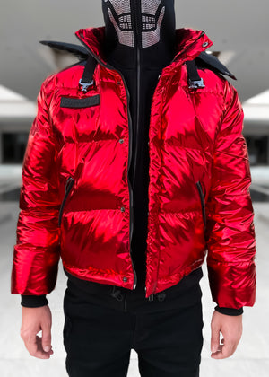 Red Inferno Puffer Jacket
