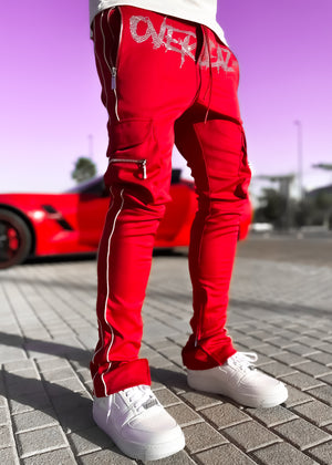Blood Red Overseaz Track Pants