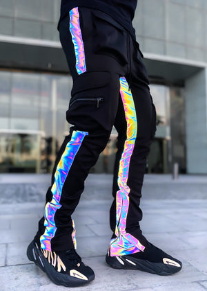 Rainbow Reflective Tactical Track Pants