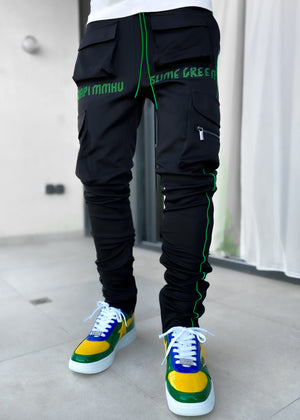 Slime Green Tactical Track Pants