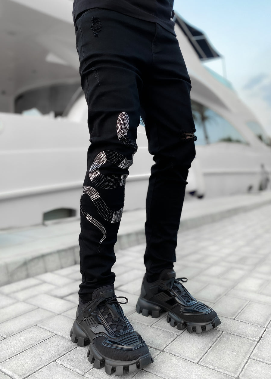 Obsidian Black Kingsnake Denim
