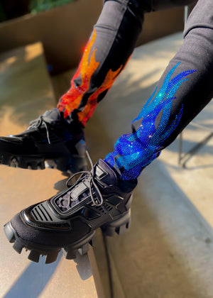 Split Flames Denim