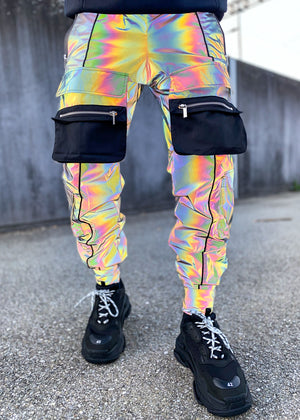 Rainbow Reflective Tactical Cargo Pant